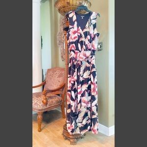 nine west maxi dress • floral print • size 12